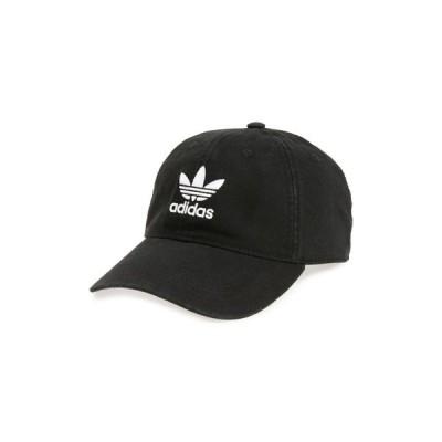 アディダス ADIDAS ORIGINALS メンズ キャップ ベースボールキャップ 帽子 Relaxed Baseball Cap Black/White