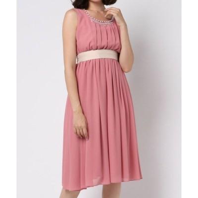 ドレス 【Cupid Heart】結婚式、二次会、ちょとしたお食事会におすすめドレス♪りぼん付きミモレドレス