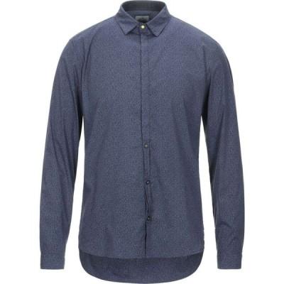 ベルナ BERNA メンズ シャツ トップス patterned shirt Blue