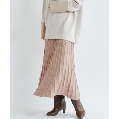 DouDou / 【WEB限定】ニットプリーツスカート WOMEN スカート > スカート