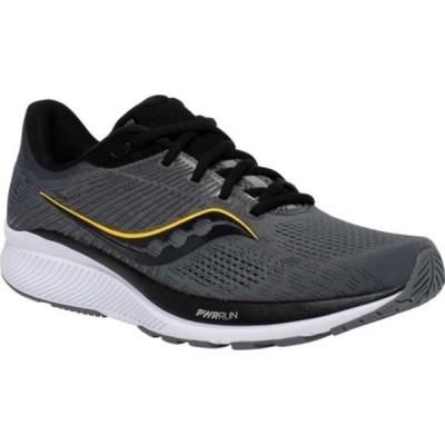 サッカニー スニーカー シューズ メンズ Guide 14 Running Sneaker (Men's) Charcoal/Vizigold
