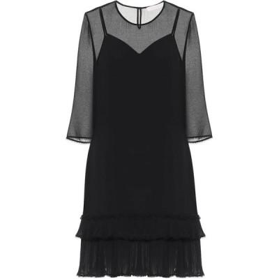 クロエ See By Chloe レディース パーティードレス ワンピース・ドレス Georgette minidress Black