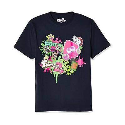 [スプラトゥーン] Tシャツ Splatoon2 スプラトゥーン2 半袖 ハイカラストリート 22823702 ネイビー 日本 XL (日本サイズXL