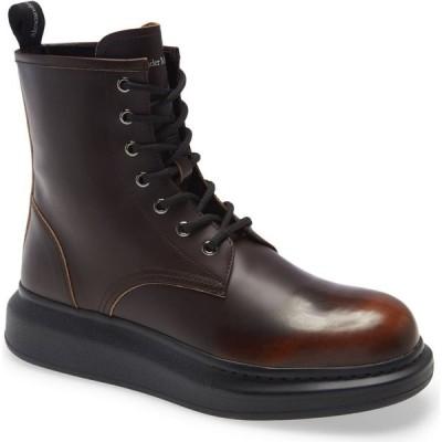 アレキサンダー マックイーン ALEXANDER MCQUEEN メンズ ブーツ シューズ・靴 Plain Toe Boot Brown/Burnt Orange
