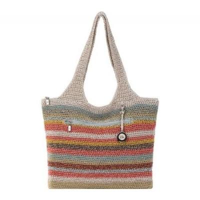 ザ サク THE SAK レディース トートバッグ バッグ Casual Classics Large Tote Horizon Stripe Hand Crochet