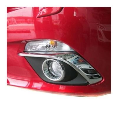 AL 2014 2015 マツダ 3 アクセラ BMによる ABS クローム フロント フォグ ライト アイブロー フォグライトランプカバー トリム カー 2ピース セット AL-AA-0842