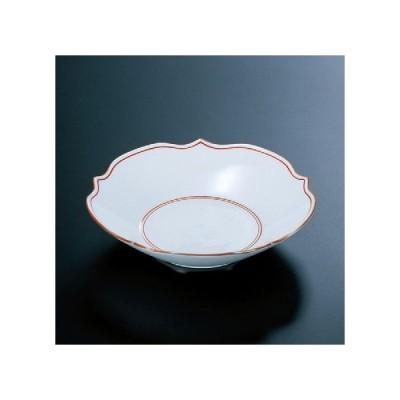 陶器 花型深皿赤線見返筋入(有田焼) [16.5φ x 4cm] 陶 (7-936-3) 料亭 旅館 和食器 飲食店 業務用