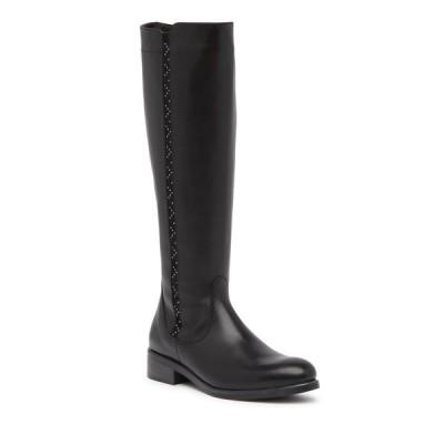 イタリアンシューメーカー レディース ブーツ&レインブーツ シューズ Titta Leather Studded Knee-High Boot BLACK