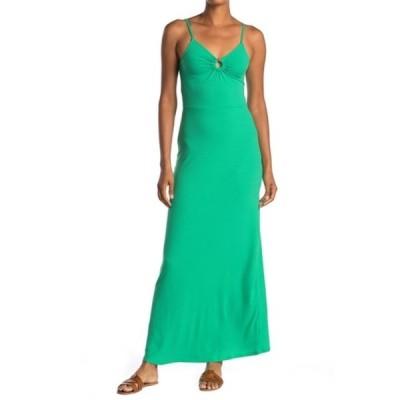 ラブファイヤ レディース ワンピース トップス Ribbed Keyhole Cutout Maxi Dress HOLLY GREEN