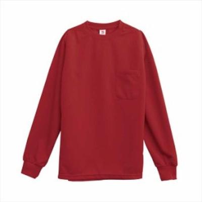 TS DESIGN (TSデザイン) 長袖Tシャツ ワインレッド 2095 2002 作業服 ユニフォーム