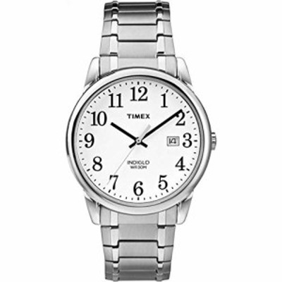 腕時計 タイメックス メンズ Timex Men's TW2P81300 Easy Reader Silver-Tone Stainless Steel Expansion