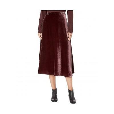 Eileen Fisher アイリーンフィッシャー レディース 女性用 ファッション スカート Velvet A-Line Calf Length Skirt with Side Split - Cassis