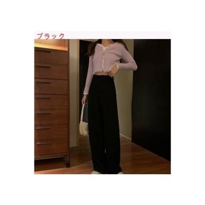 【送料無料】春夏 韓国風 ドレープ トウ 地 ワイドレッグパンツ ファッション ハイ   364331_A62802-0334150