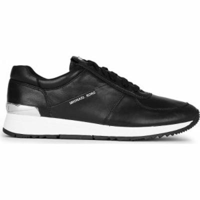 マイケル コース MICHAEL MICHAEL KORS レディース スニーカー シューズ・靴 Allie leather trainers BLACK