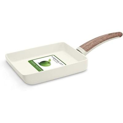 GreenPan グリーンパン 「 ウッドビー 」 エッグパン(玉子焼き器) 14x18cm IH対応 ヘルシーセラミックノンスティック W
