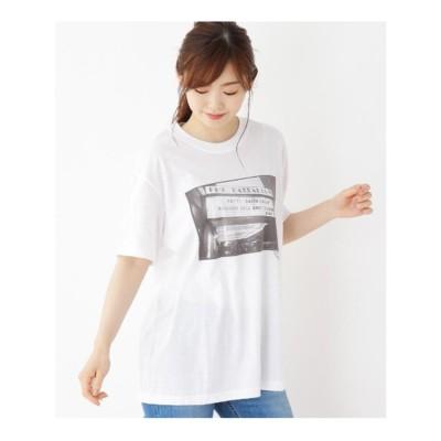 オペーク ドット クリップ OPAQUE.CLIP 【洗える】フォトプリントコットンTシャツ (ホワイト)