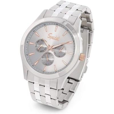 Speidel Men's Chrono Stainless Steel Light Gray Sunray Dial Watch with