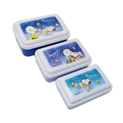 スヌーピー[お弁当箱]入れ子ランチボックス3Pセット/夜空 ピーナッツ