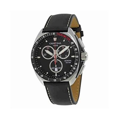 腕時計 サーチナ メンズ C010.417.16.051.01 Certina DS Royal C010-417-16-051-01 Black White Stitching