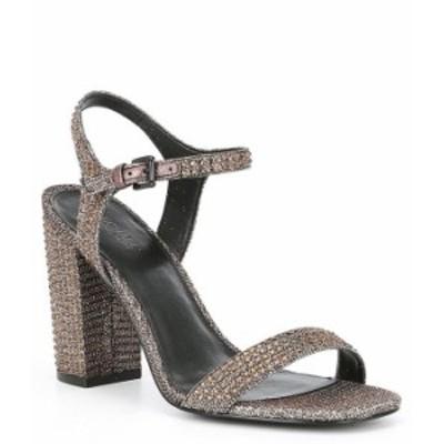 マイケルコース レディース サンダル シューズ Francine Jewel Embellished Block Heel Dress Sandals Black/Bronze/Silver