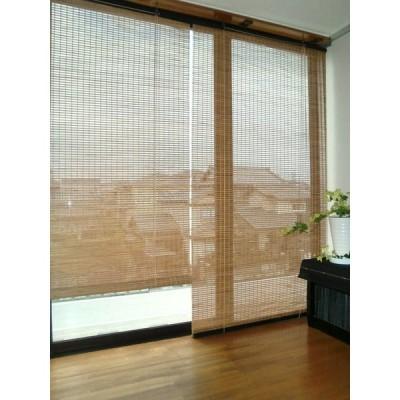 デザイン バンブースクリーン ブラウン 幅88×高さ135cm