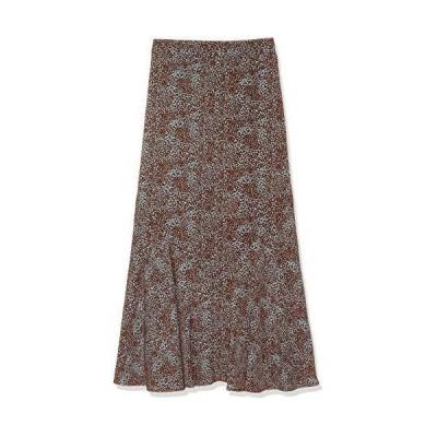 [エヌナチュラルビューティーベーシック*] スカート 小花プリントペプラムAラインスカート レディース 166-012038