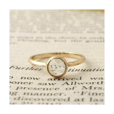 GARDEN OF EDEN Archive White Topaz Rose Cut Ring