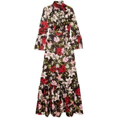 アーデム ERDEM ロングワンピース&ドレス ブラック 12 シルク 100% ロングワンピース&ドレス
