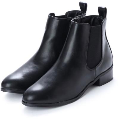 リゾイ REZOY 【wee willie】LOWヒールサイドゴアショートブーツ (ブラック)
