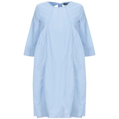SOALLURE ミニワンピース&ドレス アジュールブルー 38 コットン 97% / ポリウレタン 3% ミニワンピース&ドレス