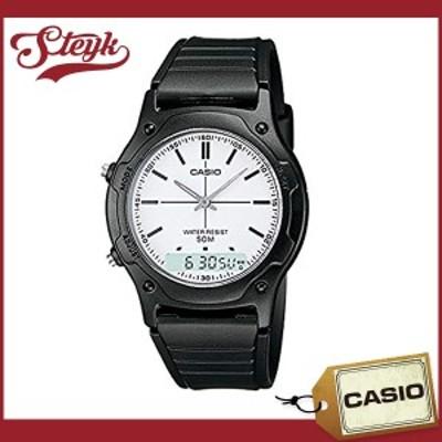 CASIO AW-49H-7E カシオ 腕時計 アナデジ スタンダード メンズ ブラック ホワイト カジュアル